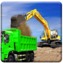 Sand Excavator Truck Driving Rescue Simulator game 3.8