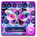 Colorful Glitter Neon Butterfly Keyboard Theme 6.12.22.2018