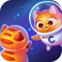 Space Cat Evolution: Kitty collecting in galaxy 2.1.8
