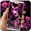 Sparkling Love Keyboard Theme 1.0