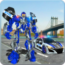 US Police Car Real Robot Transform: Robot Car Game 100