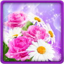 Glitter Flowers Live Wallpaper 20.0