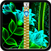 Glow Flower Zipper Lock Screen 1.7