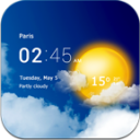 Transparent weather clock 1.28.02