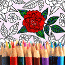 Adult Coloring: Flowers 4.1.6