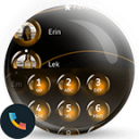Spheres Orange Phone Contacts & Dialer Theme 10.0