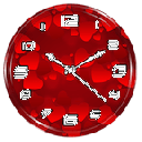 Red Clock Live Wallpaper 1.2