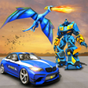 US Police Transform Robot Car Fire Dragon Fight 2.0