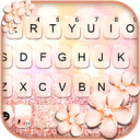 Rose Gold Glitter Keyboard Theme 1.0