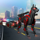 US Police Transform Robot Car Cop Dog: Robot game 1.5