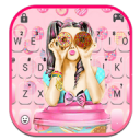 Pink Donut Girl Keyboard Theme 1.0